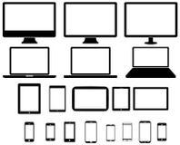 现代数字式技术设备收藏 免版税图库摄影