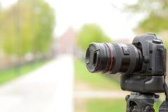 现代数字式照片照相机 免版税库存照片