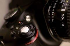 现代数字式SLR photocamera细节  免版税库存照片