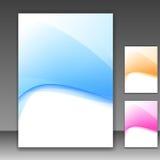 现代文件夹模板不同的颜色 库存照片