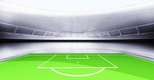 现代新的橄榄球场背景自己设计 皇族释放例证