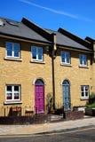 现代新的露台的房子 免版税库存照片