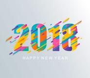 现代新年快乐2018设计卡片 库存照片