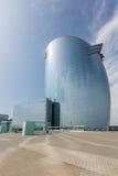 现代旅馆摩天大楼在巴塞罗那,西班牙 库存图片