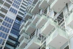 现代时髦的大厦背景的Frafment 库存照片