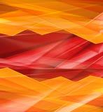 现代水晶红色和黄色棱镜背景 图库摄影