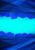 现代水晶蓝色棱镜背景 免版税库存图片