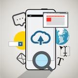 现代智能手机接口 库存照片