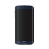 现代智能手机的新版本有空白的黑屏幕的 传染媒介EPS 10 库存图片
