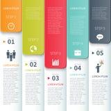 现代最小的五颜六色的infographics元素 皇族释放例证