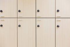 现代木衣物柜 免版税图库摄影