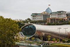 现代未来派大厦在第比利斯 库存照片