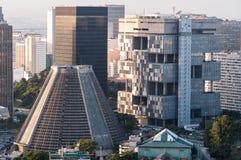 现代结构的大厦 免版税库存照片