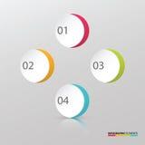 现代标志五颜六色的圈子infographic模板元素 免版税库存图片