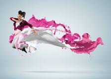 现代样式舞蹈家 图库摄影