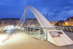 现代桥梁在洛尔卡,西班牙 免版税图库摄影