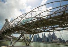 现代桥梁新加坡 库存图片