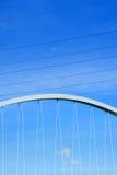 现代桥梁的元素 免版税库存图片
