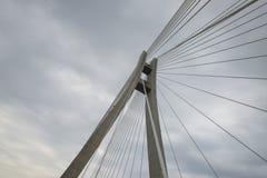 现代桥梁的元素 图库摄影