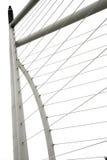 现代桥梁的元素 库存照片