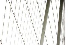 现代桥梁的元素 免版税图库摄影
