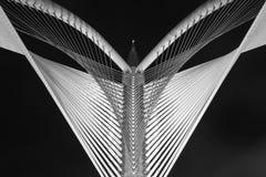 现代桥梁建筑学- Jambatan Seri Wawasan 免版税图库摄影