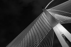 现代桥梁建筑学- Jambatan Seri Wawasan 免版税库存图片