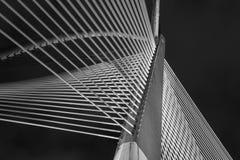 现代桥梁建筑学- Jambatan Seri Wawasan 库存照片