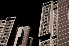 现代楼2个塔 库存照片