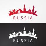 现代概念旅行向俄罗斯 俄罗斯著名地方 免版税库存图片