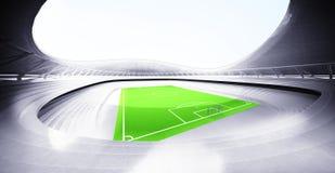 现代橄榄球场背景自己设计 库存例证