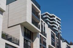 现代欧洲几何建筑学设计公共建筑O 库存图片
