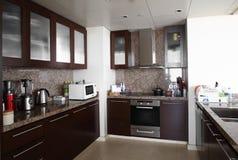 现代欧洲厨房内部  库存照片
