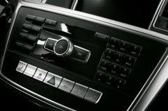 现代汽车内部。 库存图片