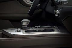 现代汽车内部细节背景 免版税库存图片