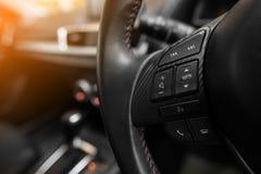 现代汽车方向盘 免版税库存图片