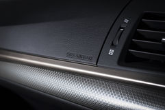 现代汽车的控制板 免版税库存图片