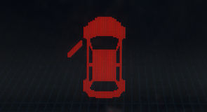 现代汽车仪表板特写镜头 免版税库存图片