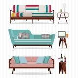现代沙发传染媒介 免版税库存图片
