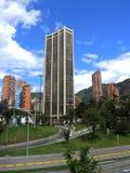现代波哥大,哥伦比亚看法  库存照片