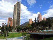 现代波哥大,哥伦比亚看法  免版税图库摄影