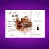 现代泼溅物样式小册子设计 免版税图库摄影