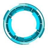 现代浅兰的圈子和球形商标设计 库存图片