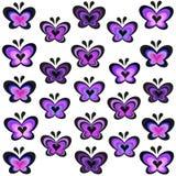现代淡紫色蝴蝶传染媒介 免版税库存照片