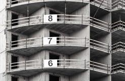 现代混凝土建筑建设中 免版税库存照片