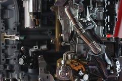 现代混合动力车辆的主要零件开汽车 法兰克福 德国 2007年2月27日 免版税图库摄影
