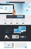现代清洗一块页网站设计模板 所有在包括与Tabl的一块页网站模板的网站设计的一个集合 免版税库存图片