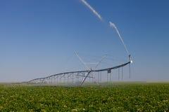 现代灌溉枢轴 库存图片