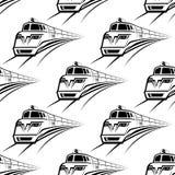 现代火车无缝的样式 免版税库存照片