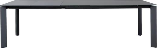 现代灰色dinning的桌 现代设计师,在白色背景隔绝的滑动工作台 家具系列  免版税库存照片